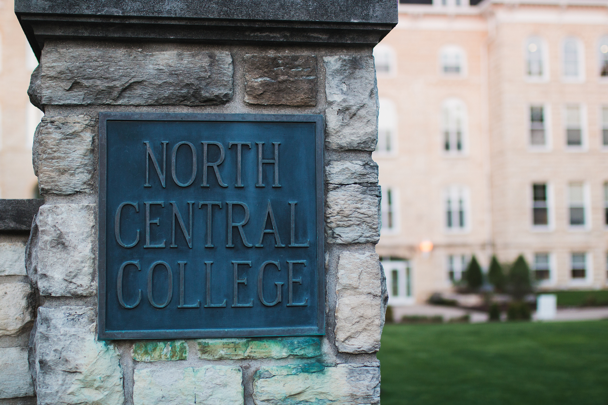 North Central College sign