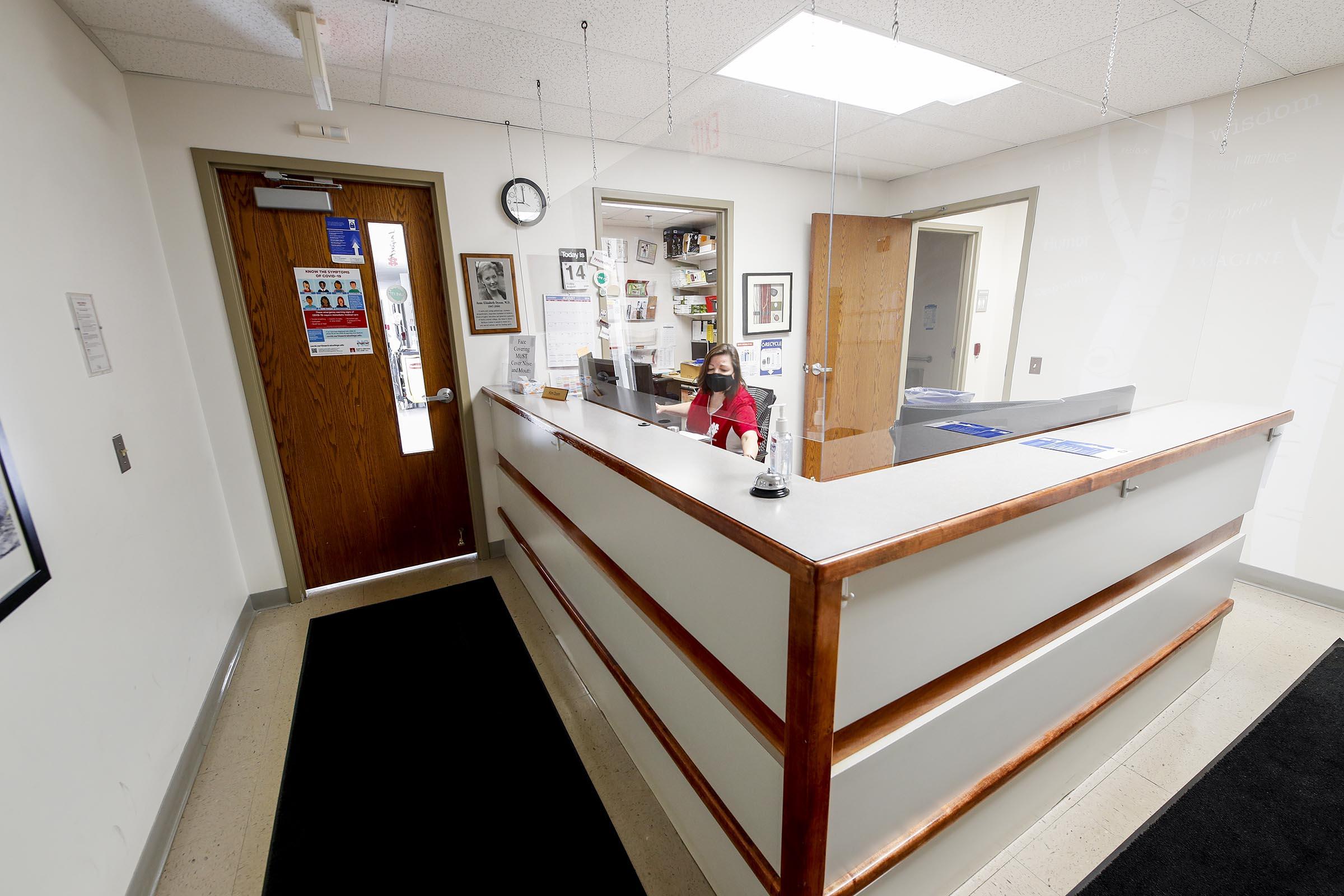 dyson wellness center reception area
