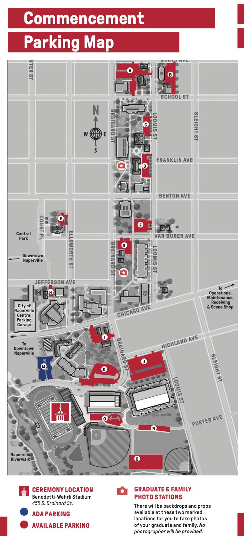 commencement parking map